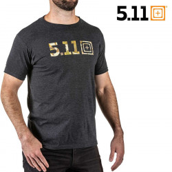 5.11 Legacy Camo Fill Tee Charcoal Heather -