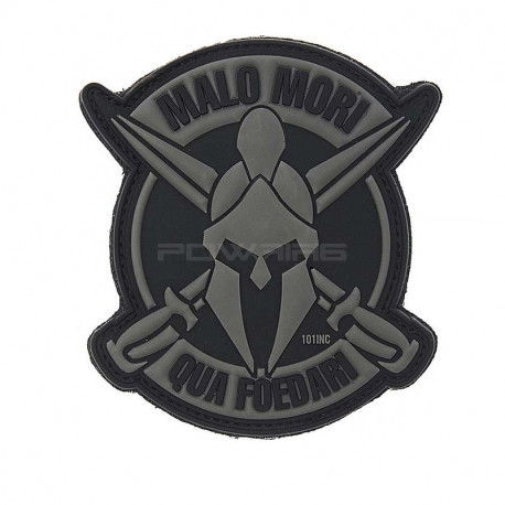 Malo Mori, grey & black Velcro patch -