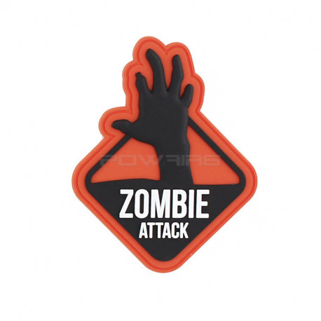 Zombie Attack Two, Orange Velcro patch -