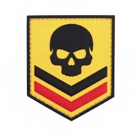 PVC Skull, yellow Velcro patch -