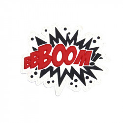 BOOM, Red Velcro patch -