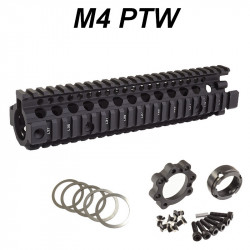 P6 Workshop rail Madbull MK18 9.5 RIS II noir pour systema PTW M4 -