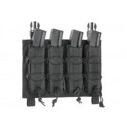 8FIELDS pouch BUCKLE UP pour 4 chargeurs MP5 MP7 MP9 & Kriss vector - Noir -