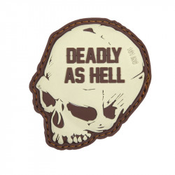 Deadly As Hell, Black Velcro patch