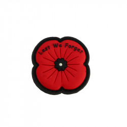 Remembrance Poppy - red Velcro patch