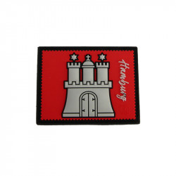 Patch Velcro HAMBURG Stamp Collection - rouge