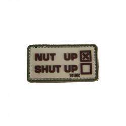 Patch Velcro Nut Up Shut Up