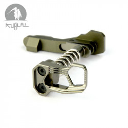 Kublai Odin style Ambi Mag Release for M4 AEG - Type B, Brown clear -