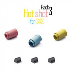Maple Leaf set of 3 SRS Hot Shot rubber + 3 tensioners -