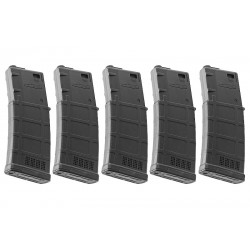 ARES 130rds AMAG Magazine for M4 AEG (5 pack) - Black