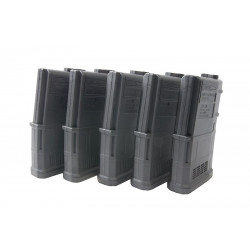 ARES 100rds AMAG Magazine for M4 AEG (5 pack) - Black -