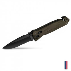 TB Outdoor knif CAC Serration PA6 FV Noir - OD