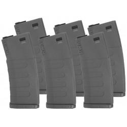 KWA pack de 6 chargeurs 120bbs mid-cap K120 pour AEG M4 - Noir -