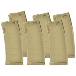 KWA pack de 6 chargeurs 120bbs mid-cap K120 pour AEG M4 - DE -