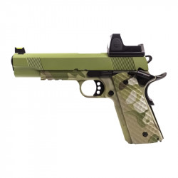 Nuprol 1911 RAVEN full metal gas GBB with BDS red dot - Camo / green -