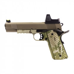 Nuprol 1911 RAVEN full metal gas GBB with BDS red dot - Camo / tan -