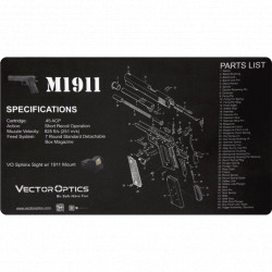 VectorOptics Tapis de travail néoprène M1911 50 x 31 cm