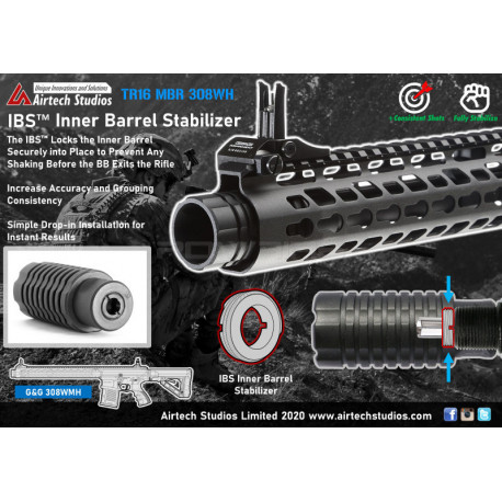 Airtech Studios IBS Inner Barrel Stabilizer for G&G 308 MBH -