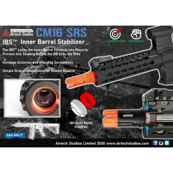 Airtech Studios Stabilisateur de canon interne IBS pour G&G SRS 7inch CQB -
