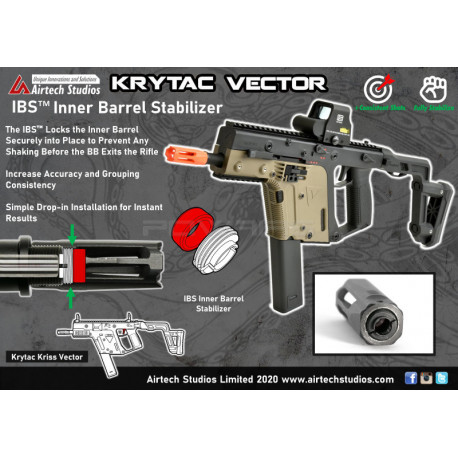 Airtech Studios IBS Inner Barrel Stabilizer for Krytac Kriss Vector -
