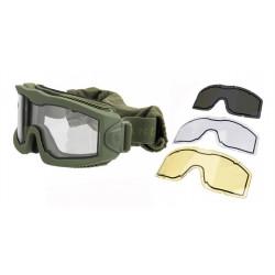 Lancer Tactical Masque Thermal AERO OD avec 3 écrans -