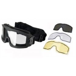 Lancer Tactical Thermal Mask AERO Black with 3 lenses -