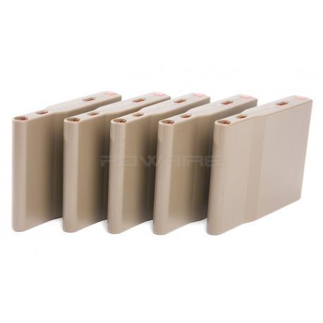 Silverback SRS 25rds polymer Magazine (5pcs / Box) - FDE -