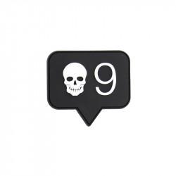 Skull 9 Patch velcro -