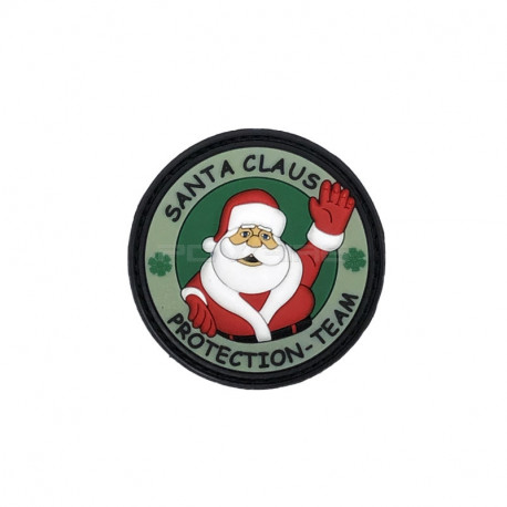 Green - Santa Claus Protection Team Patch velcro -
