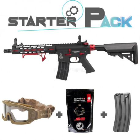 Colt M4 Hornet AEG red Starter Pack -