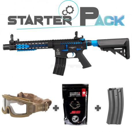 Colt M4 Blast Blue Fox AEG Starter Pack -
