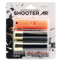 BO Pack of 2 airsoft shotgun shells and 1 bluetooth shell for AR Shooter -