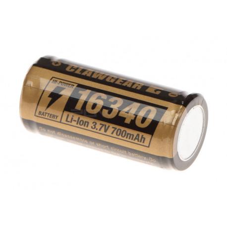 Clawgear 16340 Battery 3.7V 700mAh -