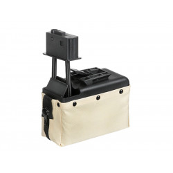 A&K ammobox 1500 coups pour M249 - Tan -