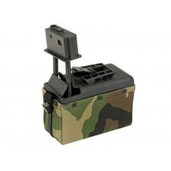 A&K ammobox 1500 coups pour M249 - Woodland -