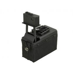A&K ammobox 1500 coups pour M249 - Noir -