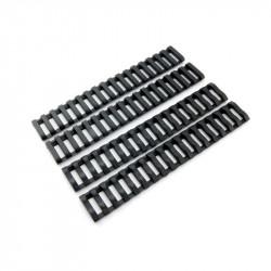 P6 set 4 echelles souples pour rail RIS (noir)