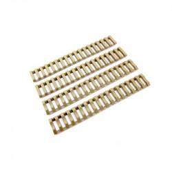 P6 set 4 echelles souples pour rail RIS (tan)