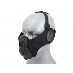 Half Face SKULL Mask (Ear Version) - Black -