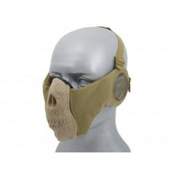 Half Face SKULL Mask (Ear Version) - Tan -