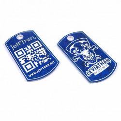JEFFRON Dog Tag Keychain -
