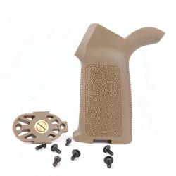 MOE style motor grip for M4 AEG - Tan