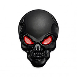 3D Metal Head metal Stickers Skull style (selectable) -
