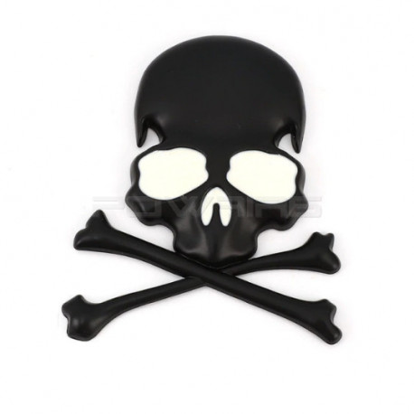 3D Metal Head metal Stickers pirate style (selectable) -