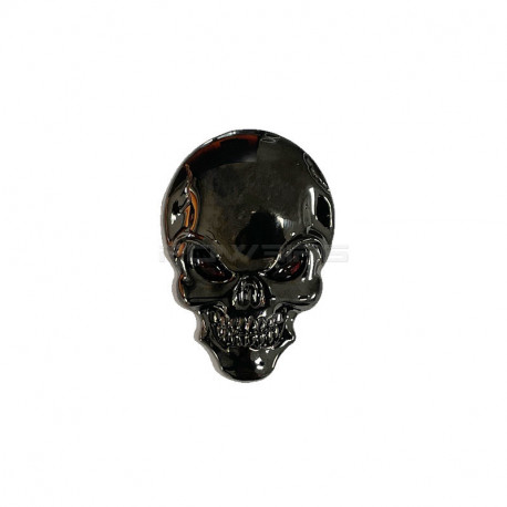 Sticker metal autocollant style Skull (selectionable) -