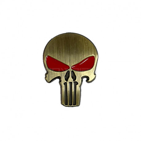 3D Metal Head metal Stickers Punisher style (selectable) -