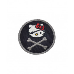 Patch Hello Kitty Jolly Roger - bk -