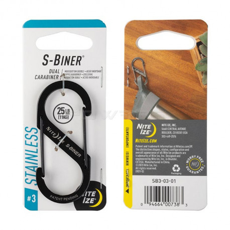Nite Ize S-Biner Number 3 double carabiner - Black