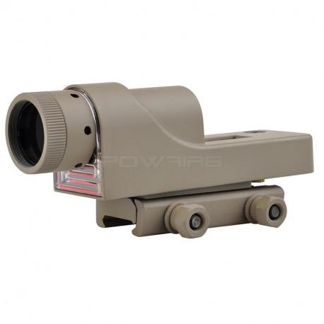 AIM Reflex 1x24 TJ Style optical fiber Red Dot Dark Earth