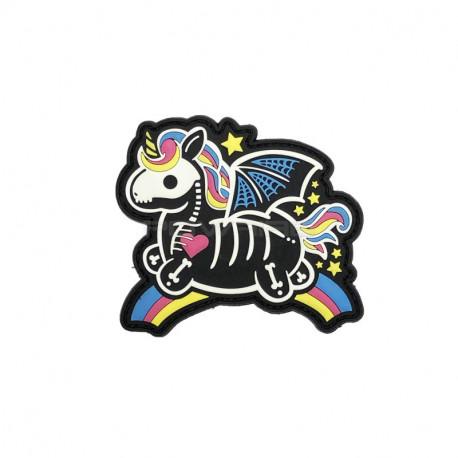 Skeleton Unicorn Patch velcro -